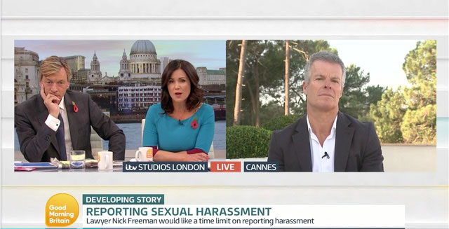 Nick Appears On Good Morning Britain Talking About Sexual Offences